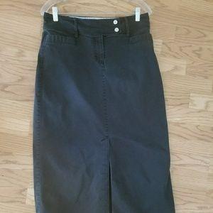Womens Tommy Hilfiger navy skirt size 8 (GG0521)